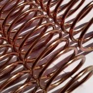 Espiral Metálico em Alumínio 20mm x 26 cm (3/4'') Cor: Marrom Acobreado Pacote com 10 Peças