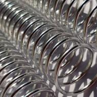 Espiral Metálico em Alumínio 20mm x 26 cm (3/4'') Cor: Prata Pacote com 10 Peças