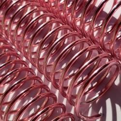 Espiral Metálico em Alumínio 20mm x 26 cm (3/4'') Cor: Rosé Pacote com 10 peças