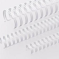 Wire-o para Encadernação 2x1 A4 Branco 1'' (25,4mm) para 200 Folhas