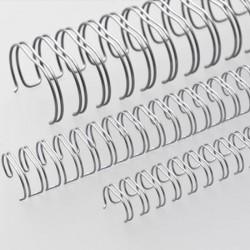 Wire-o para Encadernação 2x1 A4 Prata  1'' (25,4mm) para 200 Folhas