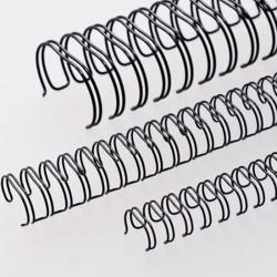 Wire-o para Encadernação 2x1 A4 Preto  1'' (25,4mm) para 200 Folhas
